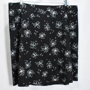 Rafaella Woman Black Embroidered  Skirt Aline 20W